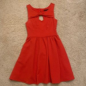 Red a line dress size 7